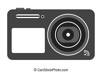 macchina fotografica, fotografico, digitale, icona