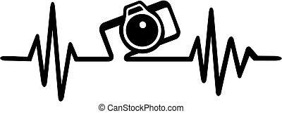 macchina fotografica, fotografo, battito cardiaco
