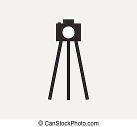 macchina fotografica, icona