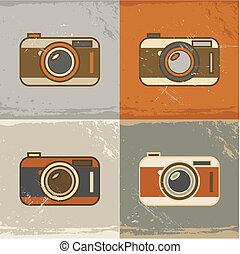 macchina fotografica, icone