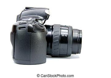 macchina fotografica, lato, slr, vista