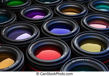 macchina fotografica, lenses.
