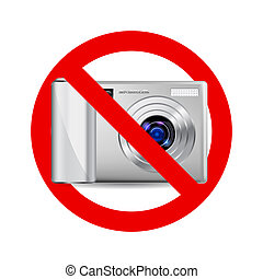 macchina fotografica, no, segno