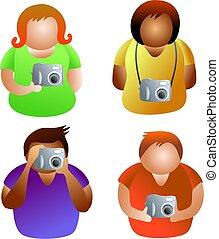 macchina fotografica, persone