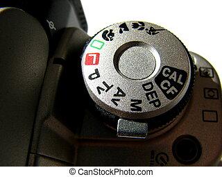 macchina fotografica, quadrante