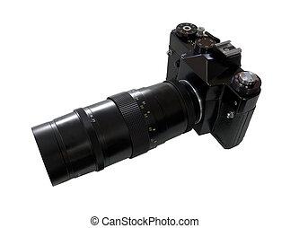 macchina fotografica, retro, slr