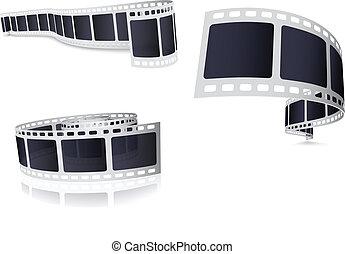 macchina fotografica, set, rotolo, film