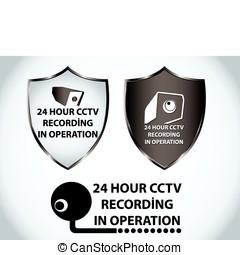 macchina fotografica sicurezza, icona