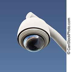 macchina fotografica sicurezza, isolato