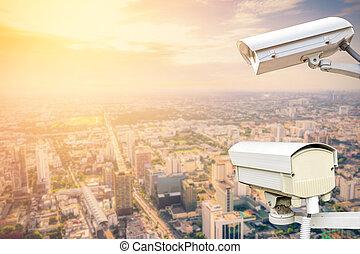macchina fotografica sicurezza, sorveglianza, (cctv)