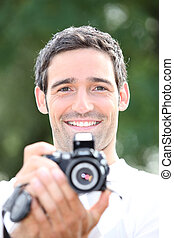 macchina fotografica, turisti
