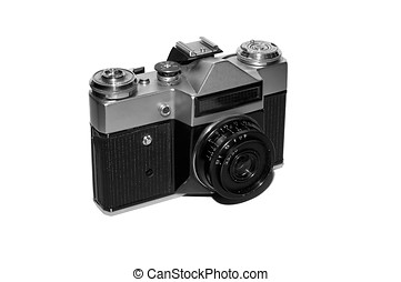 macchina fotografica, vecchio, film, slr