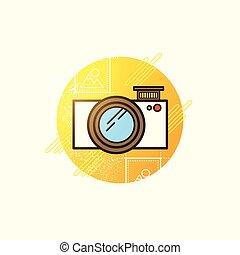 macchina fotografica, vettore, icona