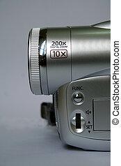 macchina fotografica, video, dettaglio