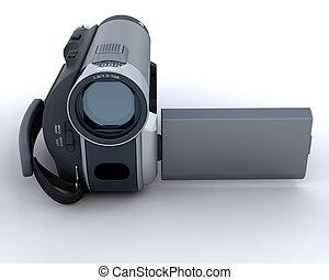 macchina fotografica, video, digitale