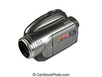 macchina fotografica, video, isolato, digitale