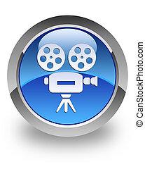macchina fotografica, video, lucido, icona