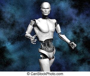 macchina, intelligenza, androide, cibernetico