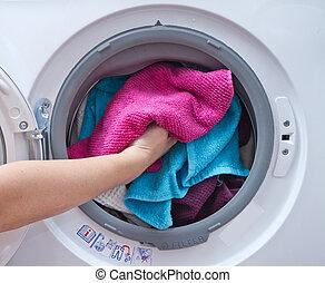 macchina, lavaggio