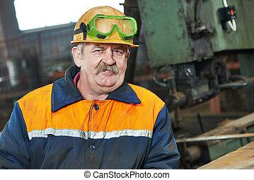 macchina, macchia, lavoratore industria, saldatura