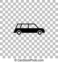 macchina passeggero, appartamento, icona
