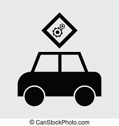macchina passeggero, icona