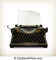 macchina scrivere, vettore