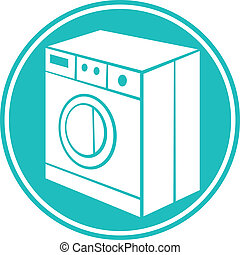 macchina, simbolo, lavaggio