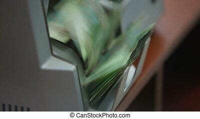 macchina, soldi, conteggio