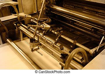 macchina, stampa, compensazione