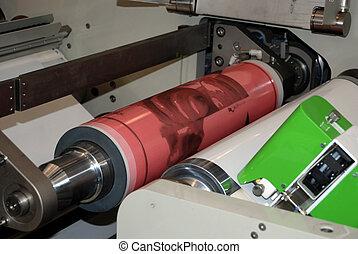 macchina, stampa, flexo