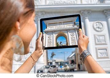 macedone, fotografare, cancello