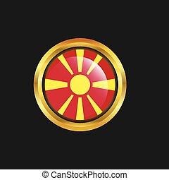 Macedonia flag Golden button