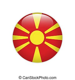 Macedonia flag on button