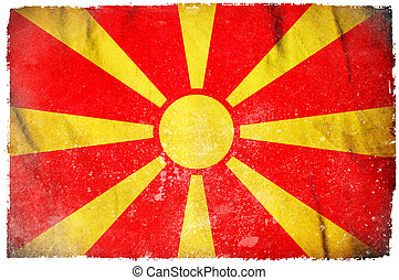 Macedonia grunge flag