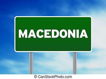 Macedonia Highway Sign