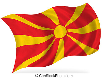 Macedonia   - Macedonia flag, isolated