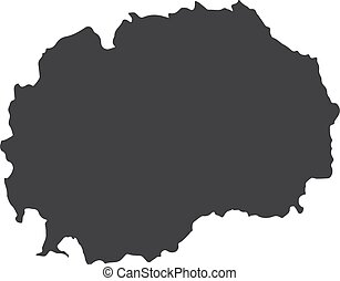 Macedonia map in black on a white background. Vector illustration