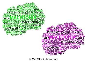 Macedonia map - Sketch Macedonia letter text map, Republic...