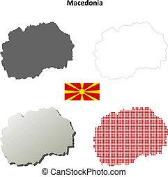Macedonia outline map set
