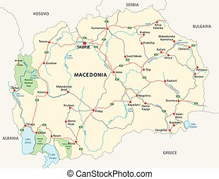 macedonia road vector map