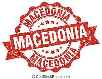 Macedonia round ribbon seal