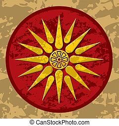 Vector symbol of king Philipos of Macedonia.