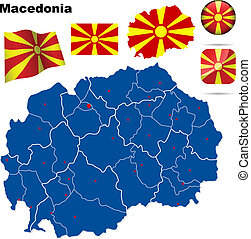 Macedonia vector set.