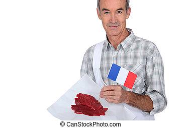 macellaio, bistecche