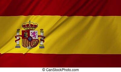 machać, 1, bandera, 2, hiszpański, wiatr
