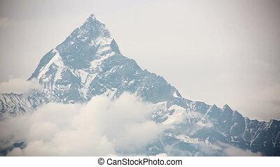 machapuchare summit, annapurna view from pokhara