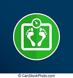 machen diät, skala, symbol, diät, vektor, iweight, gleichgewicht, ikone