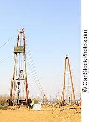 Drilling derrick in MaCheng iron mine