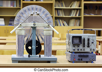 machin, educativo, vecchio, oscilloscopio, influenza,...